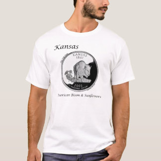 T-shirt Quart d'état - le Kansas