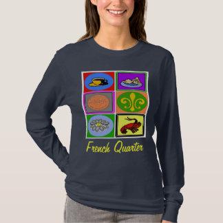 T-shirt Quartier français de symboles de la