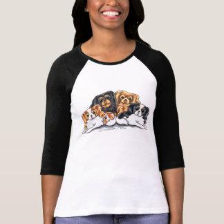T-shirt Quatre épagneuls cavaliers du Roi Charles