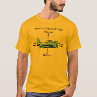 T-shirt Quatre forces de chemise d'aviation de vol
