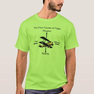 T-shirt Quatre forces de chemise d'humeur d'aviation de
