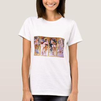 T-shirt Quatre saisons par Alphonse Mucha