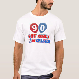 T-shirt quatre-vingt-dixième conceptions d'anniversaire
