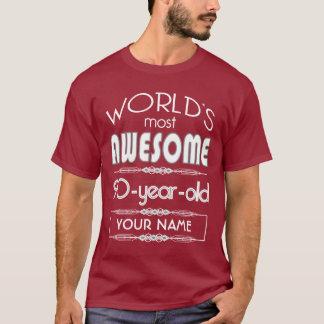 T-shirt quatre-vingt-dixième D'anniversaire des mondes