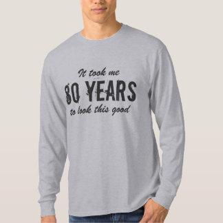 T-shirt quatre-vingtième Chemise d'anniversaire pour les