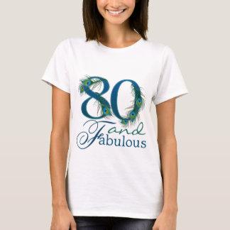 T-shirt quatre-vingtième Chemises d'anniversaire