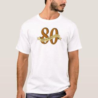 T-shirt quatre-vingtième Pièce en t d'anniversaire