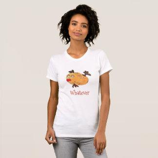 T-shirt Quelqu'art lunatique de poissons dans l'orange