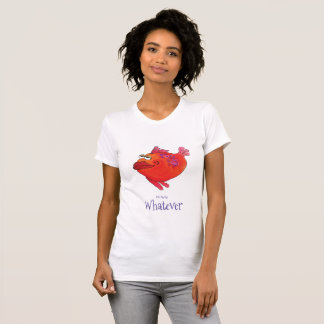 T-shirt Quelqu'art lunatique de poissons en rouge et le