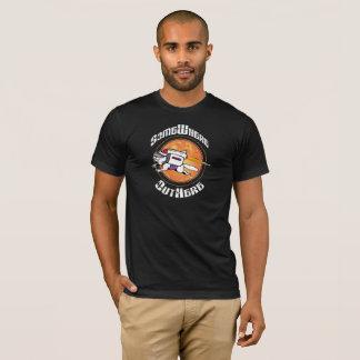 T-shirt Quelque part OutHere - conception noire de chat de