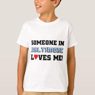 T-shirt Quelqu'un à Baltimore m'aime