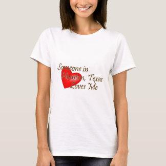 T-shirt Quelqu'un à Houston m'aime
