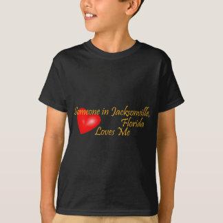T-shirt Quelqu'un à Jacksonville la Floride m'aime