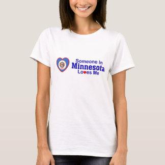 T-shirt Quelqu'un au Minnesota m'aime