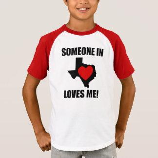 T-shirt Quelqu'un dans le Texas m'aime