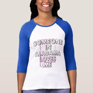 T-shirt Quelqu'un en Alabama m'aime