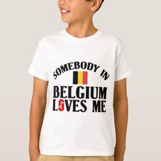 T-shirt Quelqu'un en Belgique m'aime