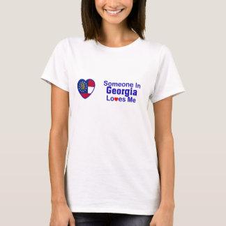T-shirt Quelqu'un en Géorgie m'aime