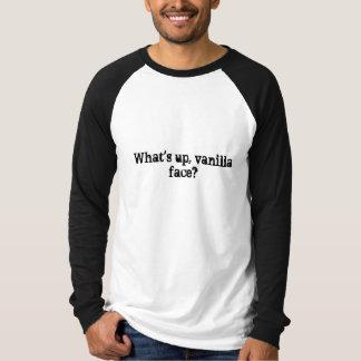T-shirt Qu'est, visage de vanille ?