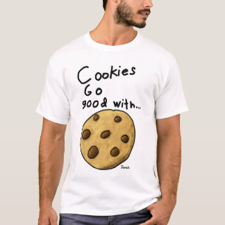 T-shirt Question de biscuit de Jamies bilatérale