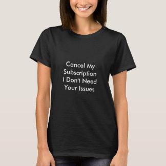 T-shirt Questions décommandées