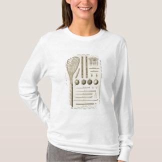 T-shirt Queues de raquettes et de billard de tennis, du
