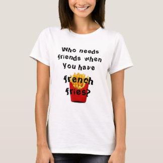 T-shirt qui a besoin d'amis quand vous prenez des pommes