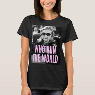 T-shirt Qui courent la pièce en t de base des femmes du