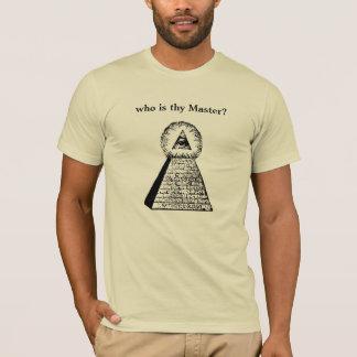 T-shirt Qui est Thy maître ?
