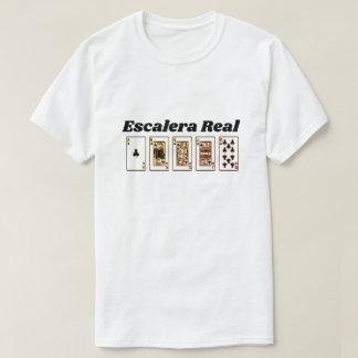 T-shirt Quinte royale et texte espagnol : Escalera vrai