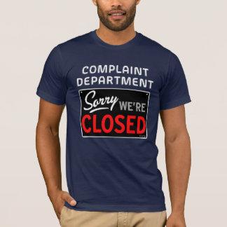 T-shirt QuipTees : Département de plainte - nous sommes