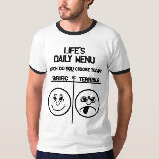 T-shirt quotidien de menu