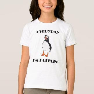 T-shirt Quotidien je suis oiseau de macareux de Pufflin