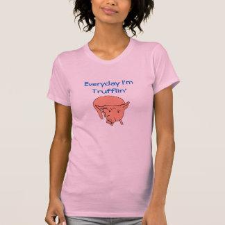 T-shirt Quotidien je suis pièce en t de porc de Trufflin