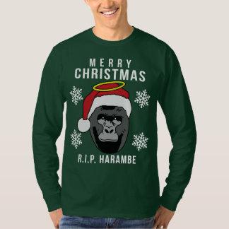 T-shirt R.I.P. Chandail laid de Noël de Harambe