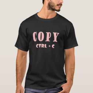 T-shirt Raccourci clavier de contrôle par duplication