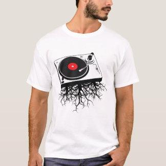 T-shirt Racines de musique de plaque tournante