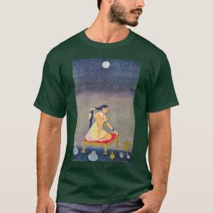 T-shirt Radha la nuit. Mughal peignant Ca 1650Th par Indis