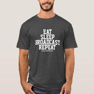 T-shirt Radio de CP - mangez, dormez, annoncez, répétez le