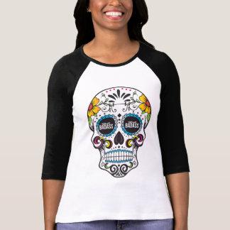 T-shirt Raglan À TEMPS PARTIEL de crâne de sucre de
