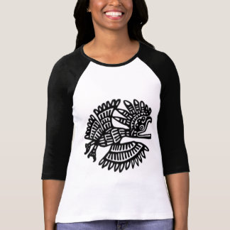 T-shirt Raglan antique de motif d'oiseau
