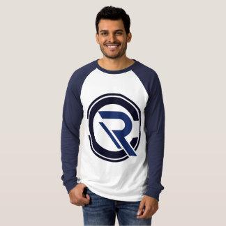 T-shirt raglan bleu de la longue douille des