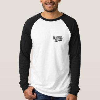 T-shirt Raglan de Longsleeve de bleus de milieu de la