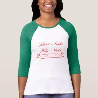 T-shirt raglan de Slv des vacances 3/4 des femmes