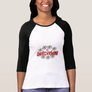 T-shirt Raglan d'edelweiss de la Suisse
