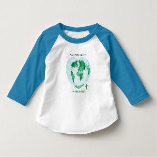 T-shirt raglan d'enfant en bas âge - Terre je suis