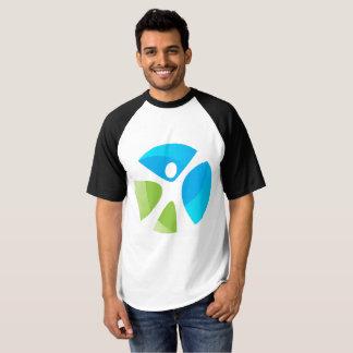 T-shirt raglan du base-ball des hommes