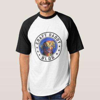 T-shirt raglan du base-ball des hommes de blog de