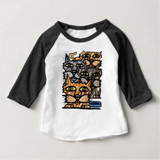 """T-shirt raglan du bébé 3/4 """"de Meow de wow"""""""