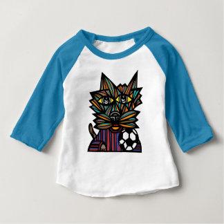 """T-shirt raglan du bébé 3/4 du """"coup-de-pied KAT"""""""